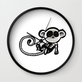 Skeleton monkey Wall Clock