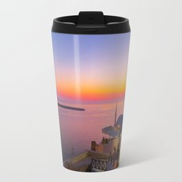 Sunset in Oia,Santorini Travel Mug