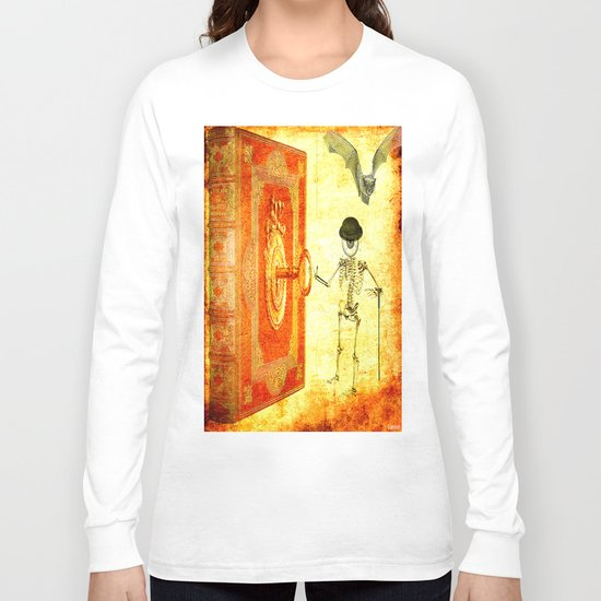 Monsieur Bone and the magic book Long Sleeve T-shirt
