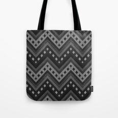 Black-white zigzag denim photocollage+ Tote Bag