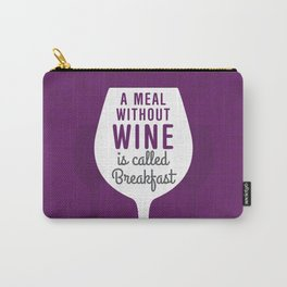 Wine Breakfast Carry-All Pouch
