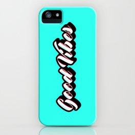 Good Vibes Retro iPhone Case