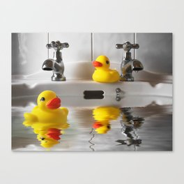 Come On in, the Water's Lovely! Canvas Print