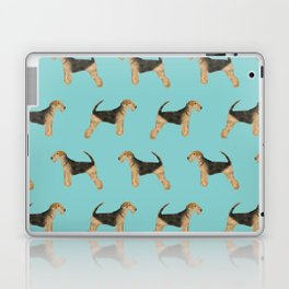 Airedale Terrier pattern dog breed cute custom dog pattern gifts for dog lovers Laptop & iPad Skin