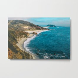 California Coastline Dreaming Metal Print