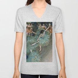 Edgar Degas - Swaying Dancer (Dancer In Green) Unisex V-Neck