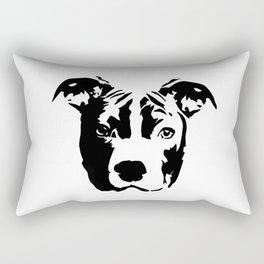 Pit Bull Terrier Dog Rectangular Pillow