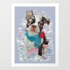 Winter Love. Art Print