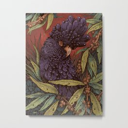 Black Cockatoo Metal Print