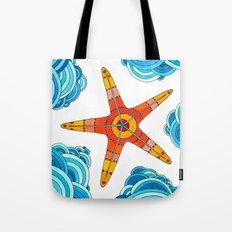 Sea #7 - Orange Starfish Tote Bag