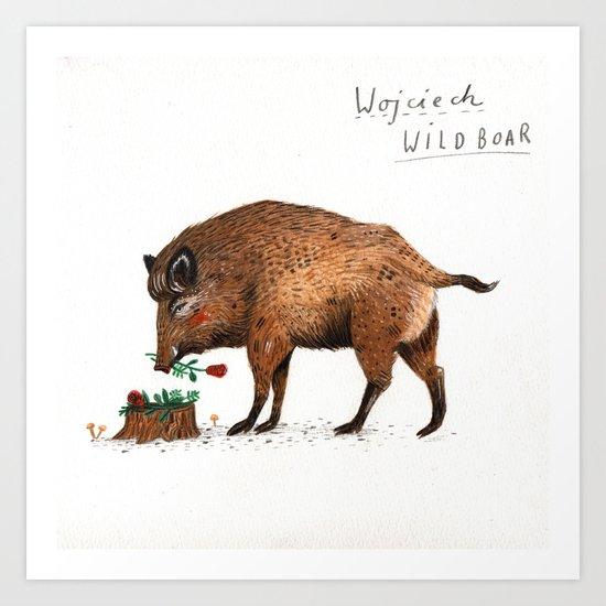 Wojciech Wild Boar Art Print