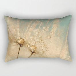 dandelion gold and mint Rectangular Pillow