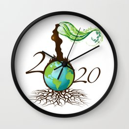 Mother Earth 2020 - White Wall Clock