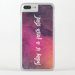 fresh start Clear iPhone Case