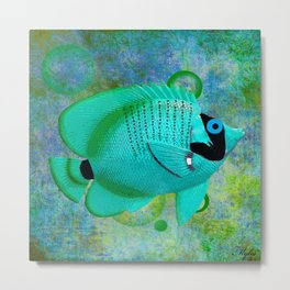 ANGEL FISH BLUE Metal Print