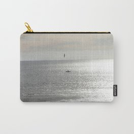 Silver sea boat and seagull seascape Carry-All Pouch