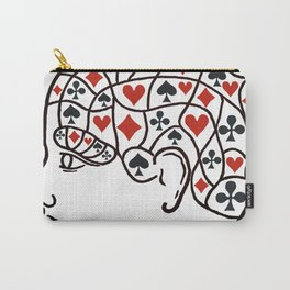 Poker phrenology red Carry-All Pouch