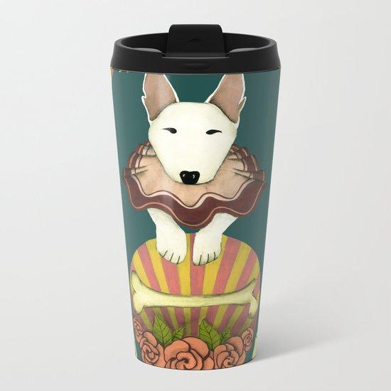 love makes fools of us- bull terrier portrait Metal Travel Mug