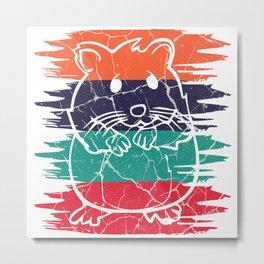 Hamster gift hamster wheel rodent hamster Metal Print