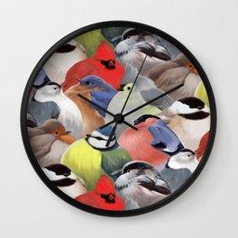 Fat backyard birds Wall Clock
