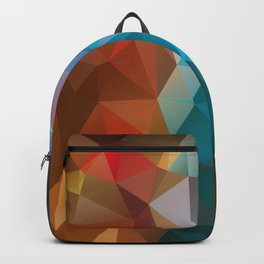 Abstract bright background of triangles polygon print illustration Backpack