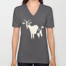 Goat Illustration Unisex V-Neck