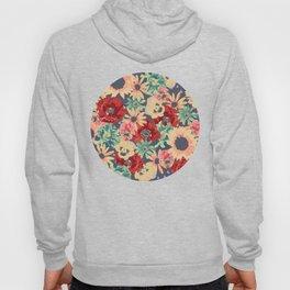 SEPIA FLOWERS -poppies, pansies & sunflowers- Hoody