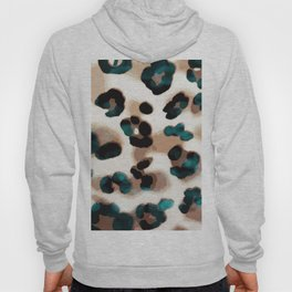 Leopard spots with turquoise twist Hoody