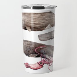 Sperm whale family Travel Mug