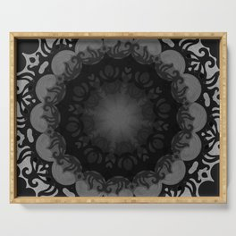 Dark Mandala #1 Serving Tray