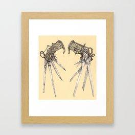 Scissorhands(Antique) Framed Art Print