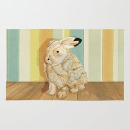 Arctic Hare In The Playroom Rug