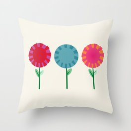 Little Maids all in a Row Throw Pillow