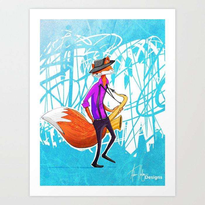 Sly the Fox Art Print