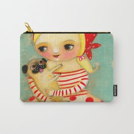 Babushka with pug dog Carry-All Pouch