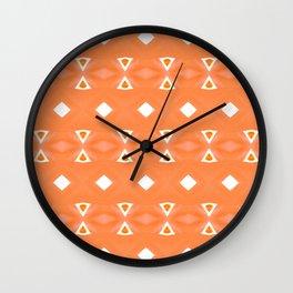 Geo Triangle Orange 3 Wall Clock