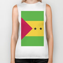 Sao Tome and Principe flag emblem Biker Tank