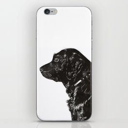 Black Lab Print iPhone Skin