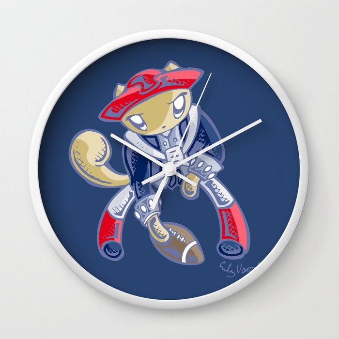 Skribbles: Go Patriots Wall Clock
