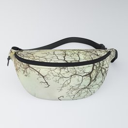 Winter tree branches in the sky Fanny Pack