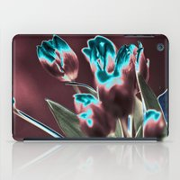popart iPad Cases featuring TULIPS - BROWN-BLUE - Popart by CAPTAINSILVA