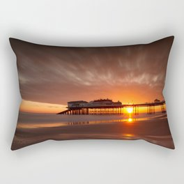 Cromer Pier Sunrise Rectangular Pillow