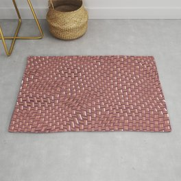 Abstract brown knitwear Rug