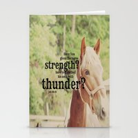 scripture Stationery Cards featuring Job 39: 19 Horse Scripture by KimberosePhotography