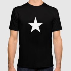 Star  Mens Fitted Tee Black MEDIUM