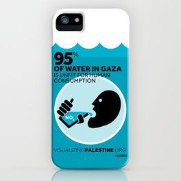 Gaza Water: Confined & Contaminated iPhone Case