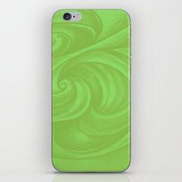 lime green iPhone Skin