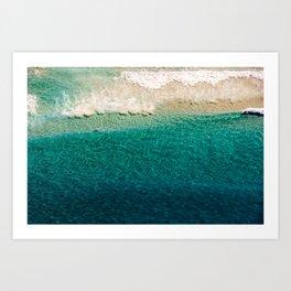 Crystal Surf Art Print