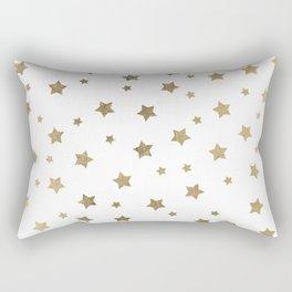 Modern gold Christmas stars geometric pattern Rectangular Pillow