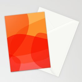 Abstract Organic Shapes in Red Stationery Cards